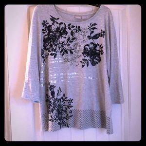 Flower print shirt by Chico's